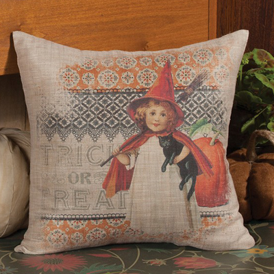 Trick or Treat Victorian Halloween Pillow