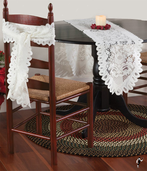 Floral Lace Table Runner/Chair Sash