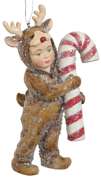 Nathan Reindeer Costume Ornament