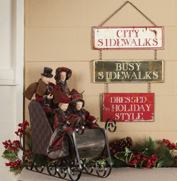Carolers In Sleigh Display