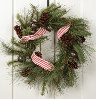 Jingle Bell & Pinecone Wreath