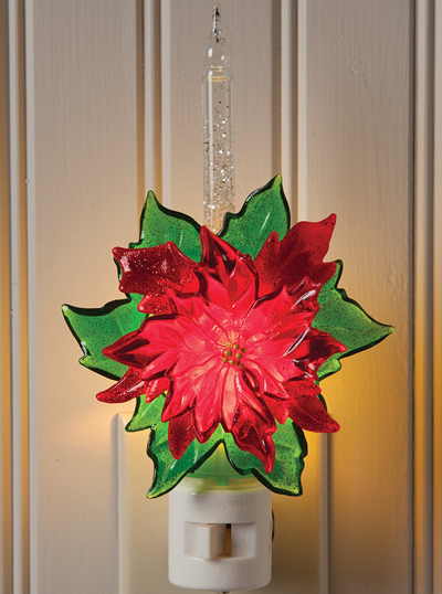 Bubble Poinsettia Night Light