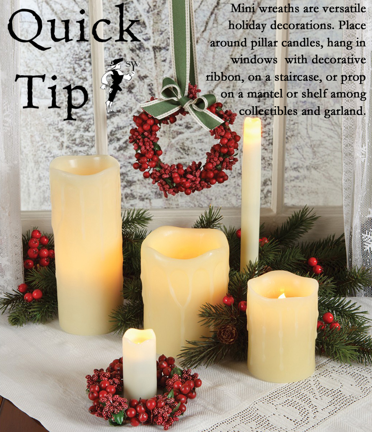 Quick Tip: Mini Holiday Wreaths