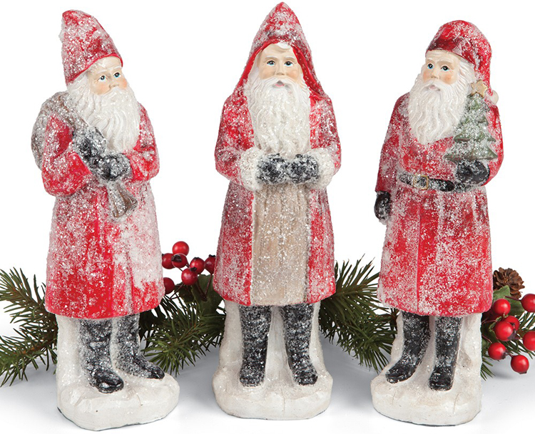 Sugared Santa Sculpture Set