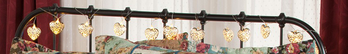 Filigree Heart String Lights