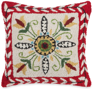 Folk Art Stencil Pillow