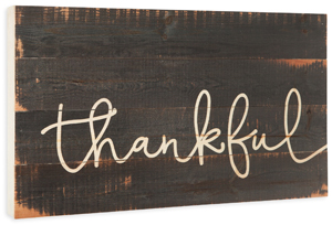 Rustic Thankful Sign
