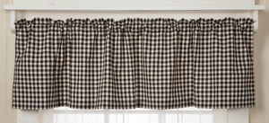 Cotton Check Valance