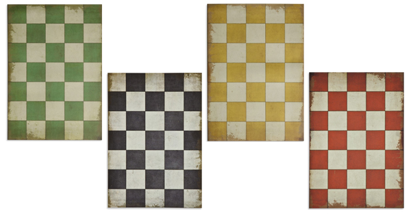 Vintage Vinyl Checkered Floorcloths