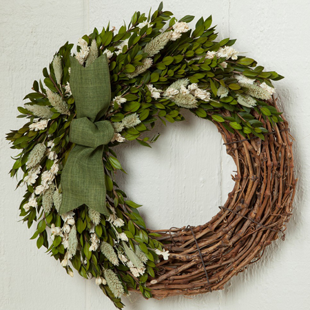 White Larkspur Wreath