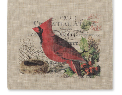 Winter Cardinal Table Runner