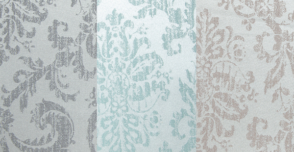Stencil Curtain Panel: Gray, Mint or Taupe