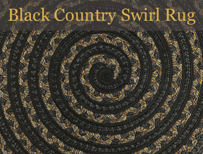 Black Country Swirl Rug