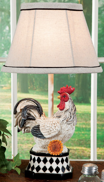 French Rooster Accent Lamp