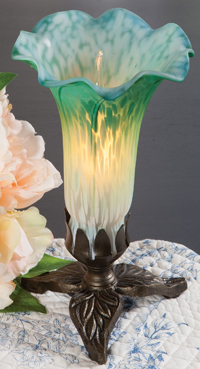 Sea Green Lily Accent Lamp
