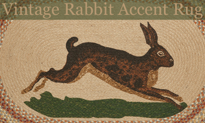 Vintage Rabbit Accent Rug