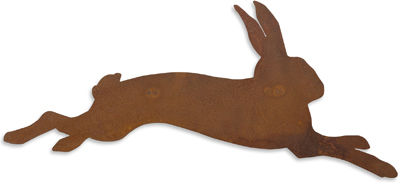 Vintage Rabbit Metal Wall Art