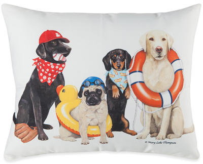 Dogs of Summer Pillow