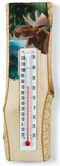 Moose Birch Thermometer