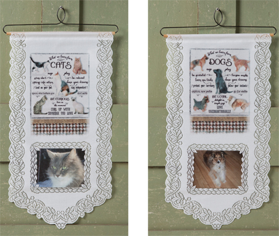 Pet Photo Lace Wall Hanging