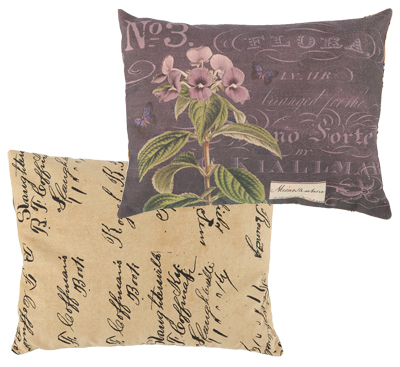 Violet Botanical Pillow