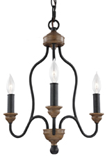 Weathered Hartsville 3 Light Chandelier