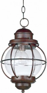 Seeded Glass Hanging Lantern