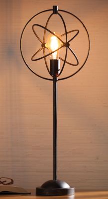 Black Atom Table Lamp | Annual Fall Lighting Sale | Sturbridge Yankee Workshop