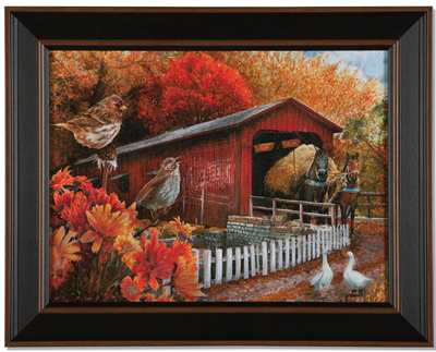 Autumn Covered Bridge Print | Tom Wood