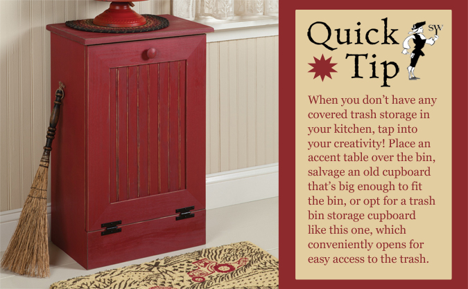 Quick Tip: Covered Trash Storage