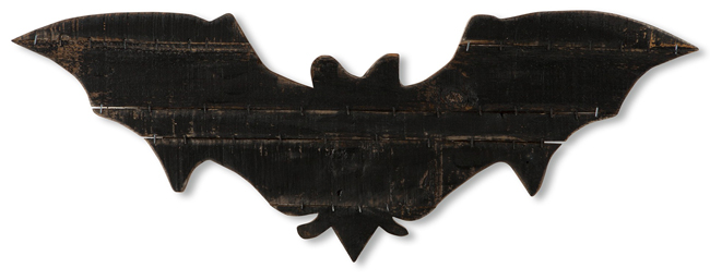 Rustic Wood Wall Bat