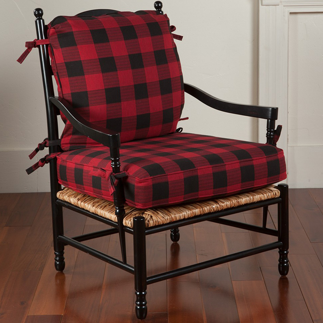 Searsmont Ladderback Arm Chair with Upholstered Cushions