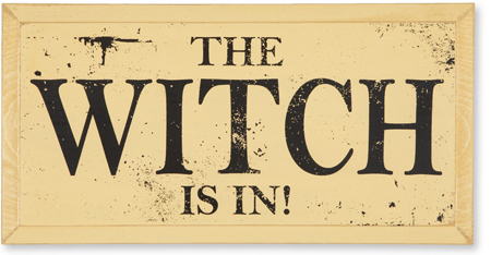 The Witch Is In Halloween Sign | Halloween Clearance