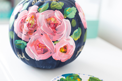 Hand Painted Floral Pumpkin | Craftberry Bush