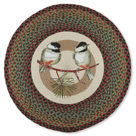 Chickadee & Pine Jute Rug | Artist Sandy Clough