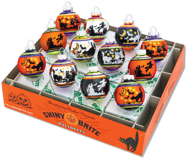 Halloween 12 Piece Ornament Set | Shiny-Brite Ornaments