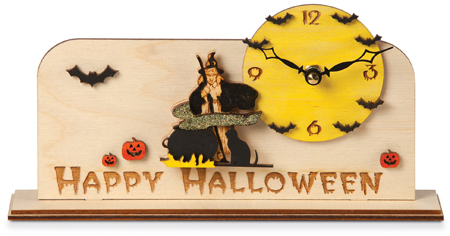 Happy Halloween Handcrafted Wood Clock | Sturbridge Yankee Workshop