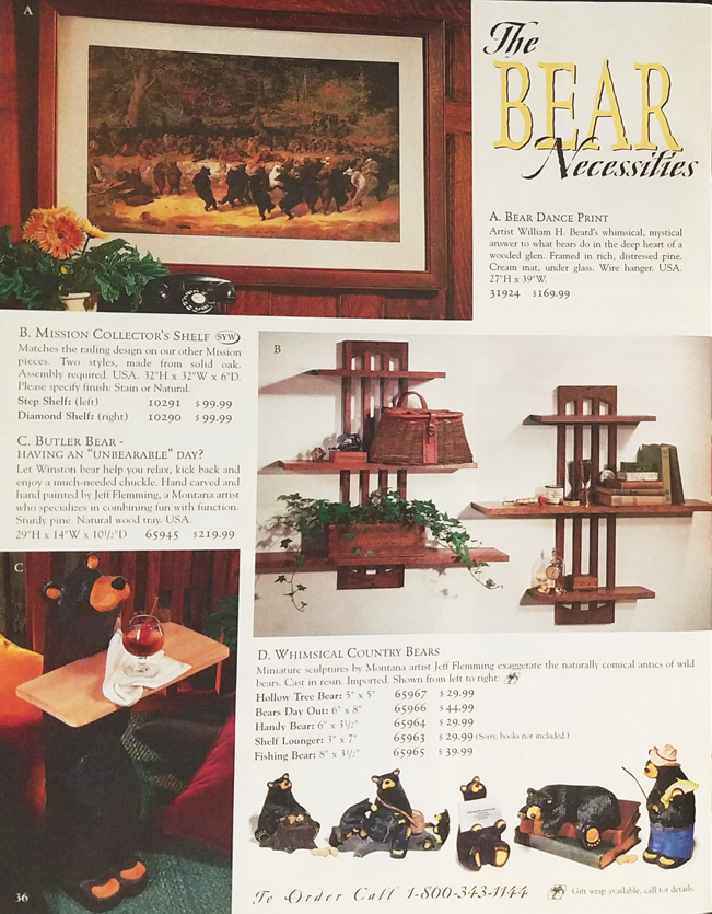 Throwback Thursday: Bear Necessities - Holiday 1998 | Sturbridge Yankee Workshop Blog