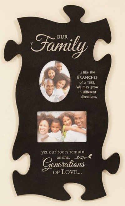 Family Puzzle Piece Frame