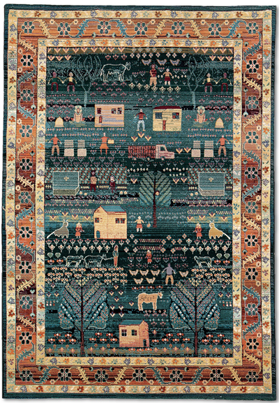 Folk Art Family Rug