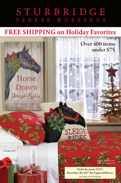 Sturbridge Yankee Workshop Holiday 2017 Catalog III A
