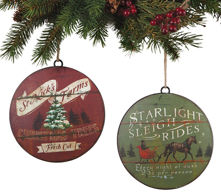 Starlight and St. Nick Ornament Set