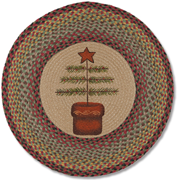 Feather Tree Jute Rug | Eco-friendly