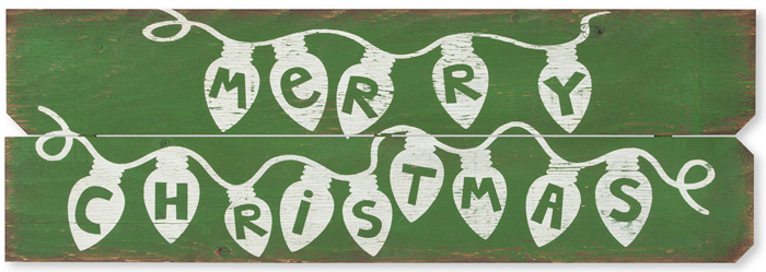 Rustic Merry Christmas Sign | Made in the USA