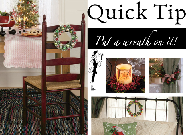 Quick Tip: Put a Wreath on it! | Sturbridge Yankee Workshop