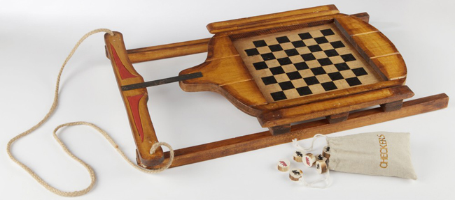 Sleigh Checkers Game Board