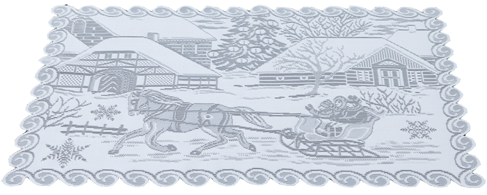 Sleigh Ride Lace Placemats | Set of Two | Made in the USA