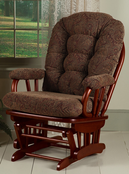 Ava Upholstered Glider & Ottoman | Sturbridge Yankee Workshop