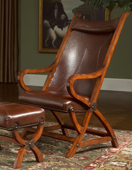 Dorian Leather Chair & Ottoman | Sturbridge Yankee Workshop