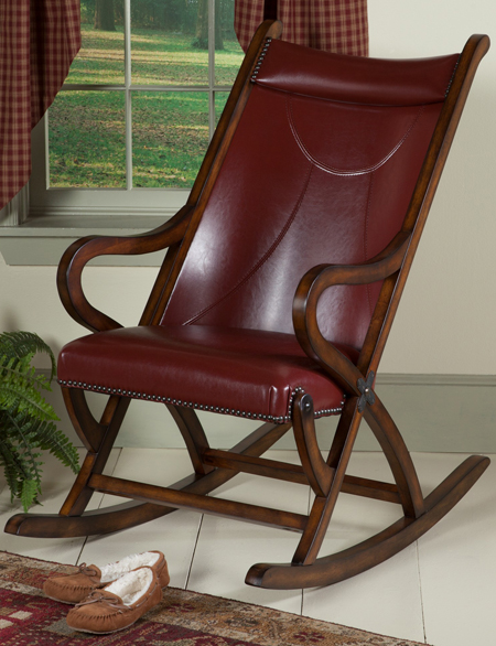 Dorian Leather Rocker | Sturbridge Yankee Workshop